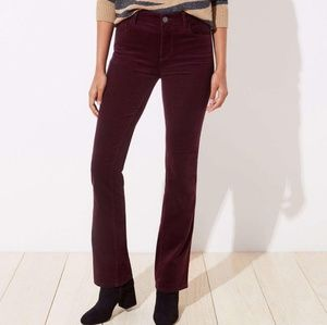 B2G1 LOFT Plum Courdory Modern Boot Cut Pants